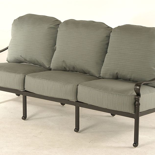 berkshire seating features a crisscross hatch pattern crafted from cast aluminum it endures a fivestep finishing process
