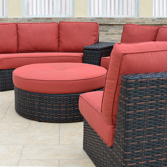 Patio Renaissance Del Mar Seating Curved Sectional. Category: Outdoor  Furniture ...