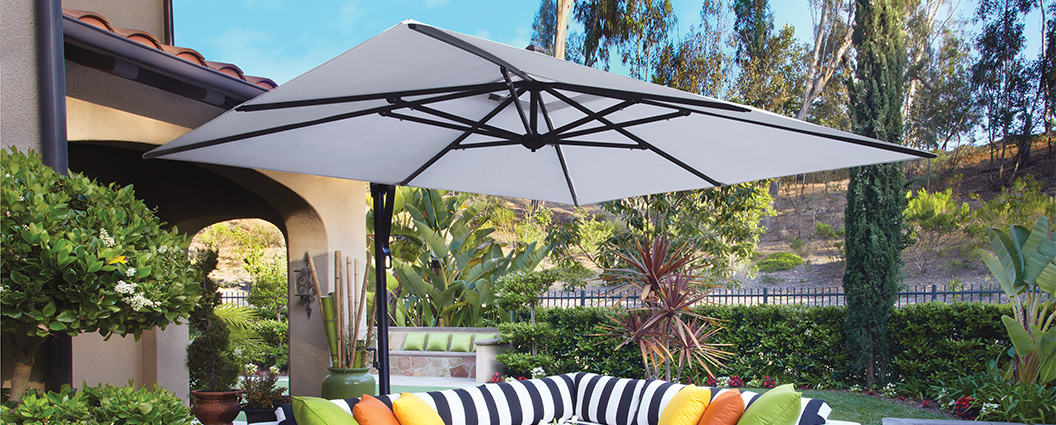 treasure garden 10u0027 square cantilever umbrella