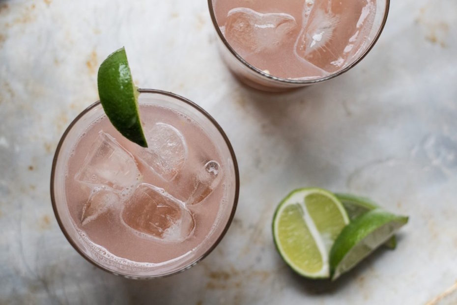 Stocking something for everyone can add up. Rather, offer water, juice, and a signature drink, like this Rhubarb and Jalapeño Tonic.