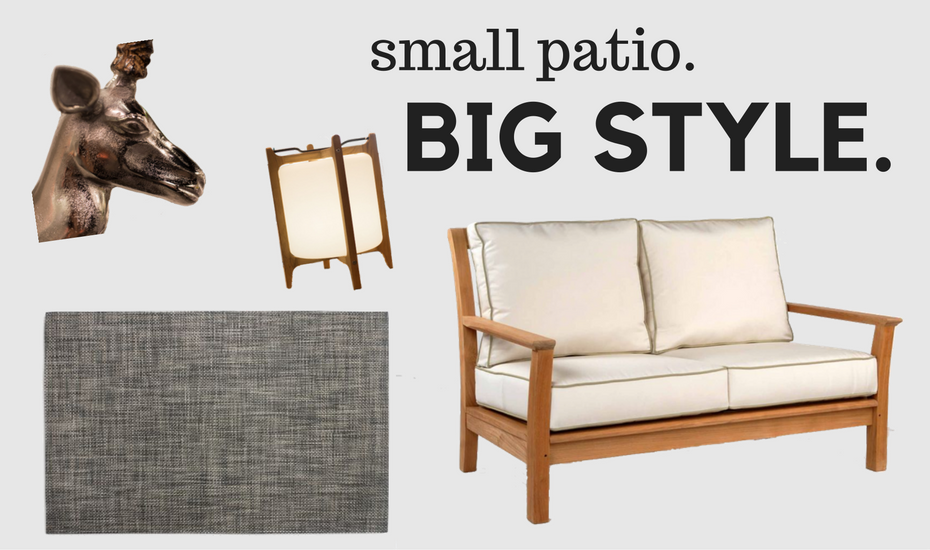 Even the smallest patios can offer a luxurious retreat if you know how to outfit them with the right pieces.