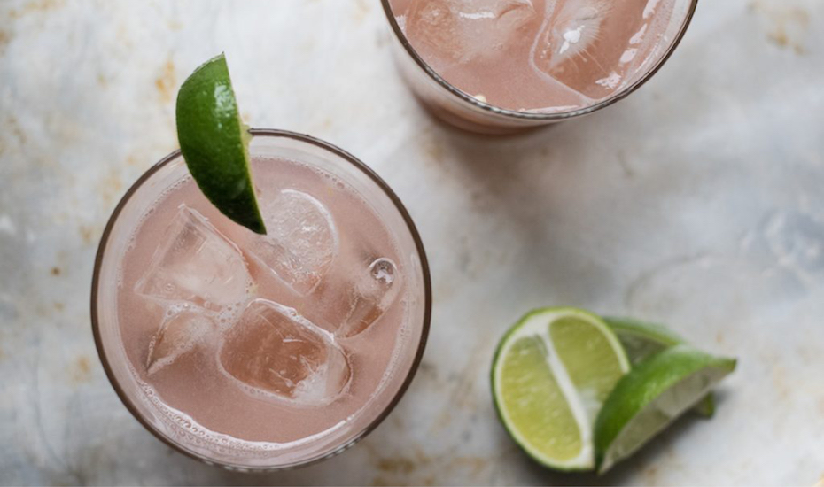Rhubarb and Jalapeno Tonic makes a bright and spicy cocktail perfect for Cinco de Mayo.