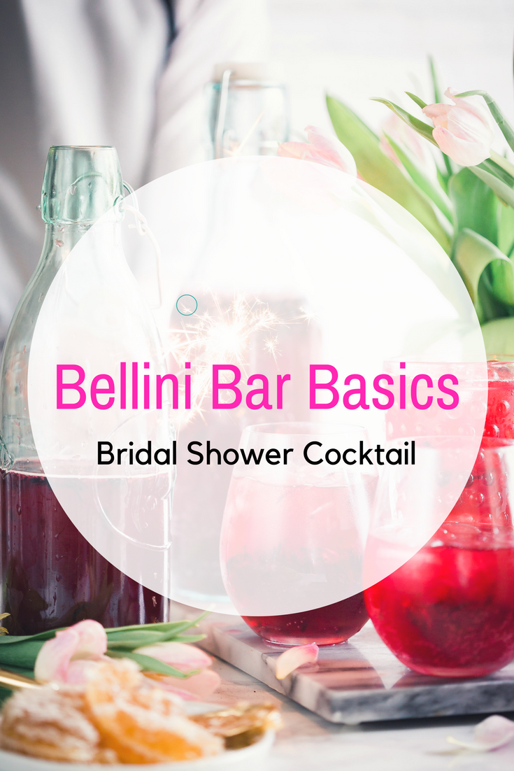 A DIY Bellini Bar is the perfect addition to your outdoor bridal shower. Elegant and easy, it will wow your guests without consuming your time!