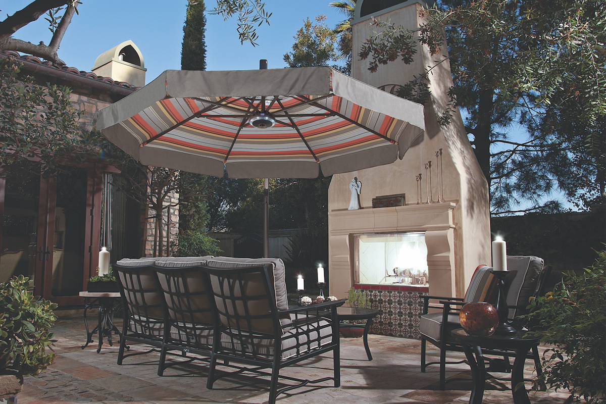 Elegant patio umbrellas let you enjoy the sun without suffering under its hot rays.