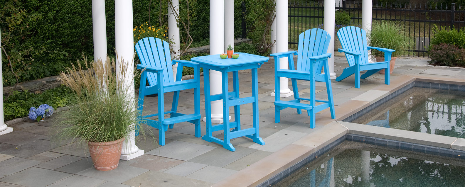 Seaside Casual Sback Adirondack Balcony Chairs With