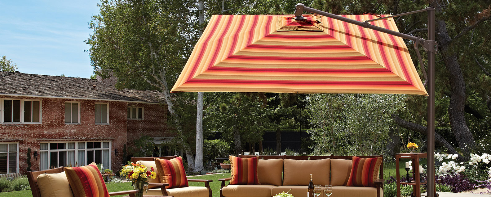 treasure garden 10 square cantilever umbrella summer