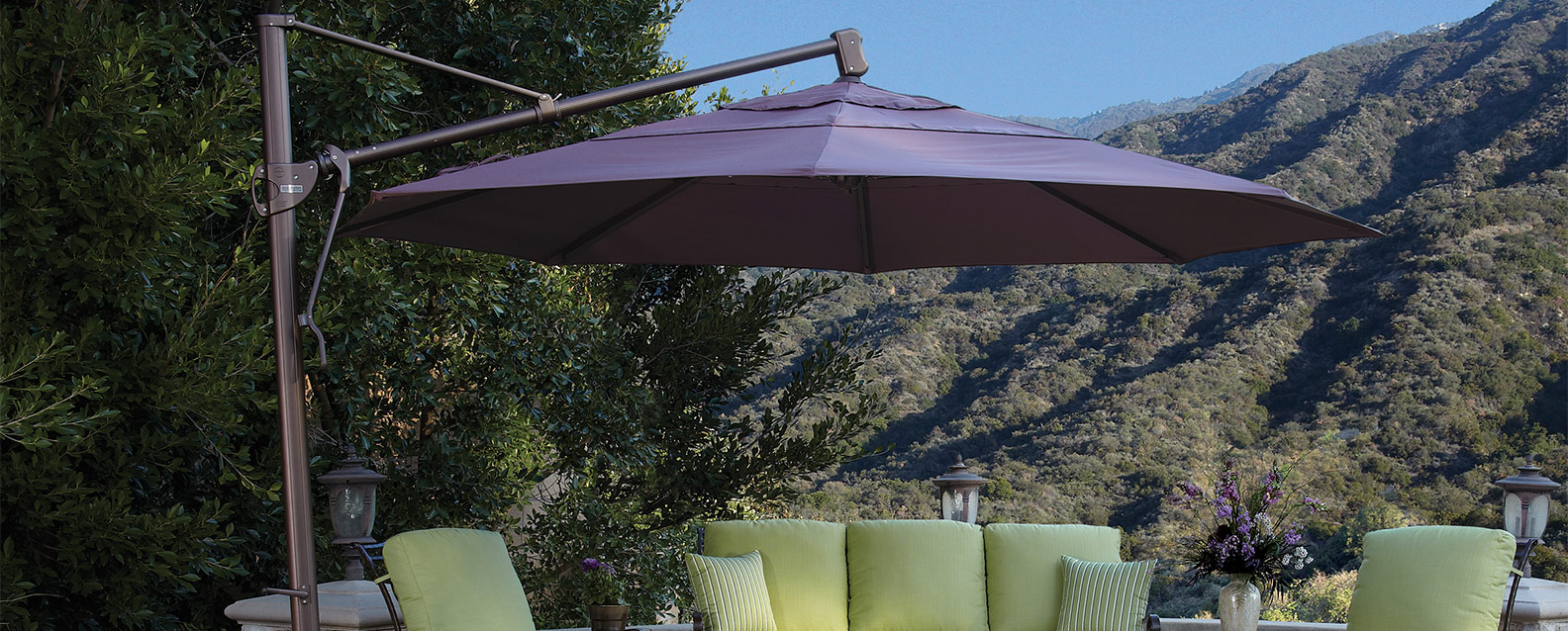 Treasure Garden 11 Octagonal Cantilever Umbrella Summer