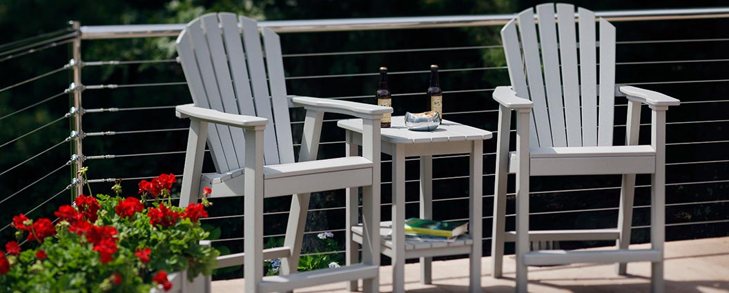 Seaside Casual Shellback Adirondack Balcony Chairs