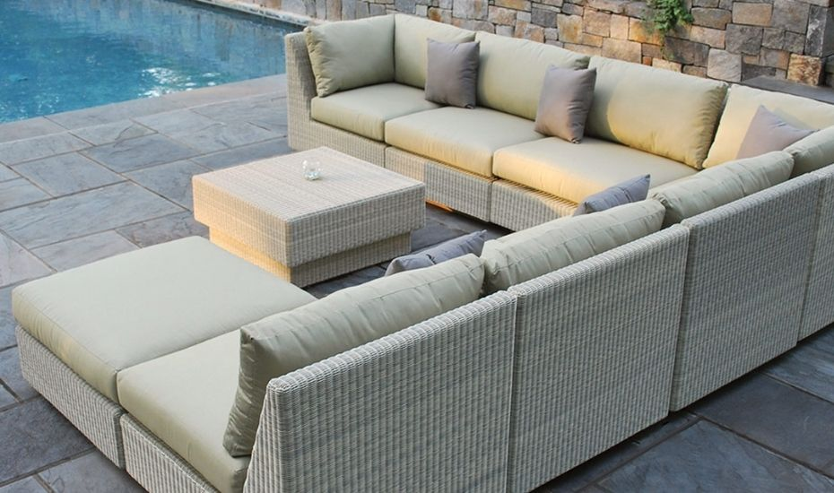 outdoor sectional wicker